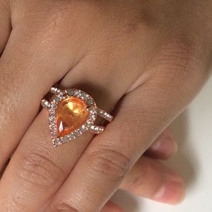 Jewelry - New 18K Rose Gold Topaz Engagement ring